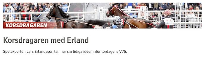 Korsdragaren med Erland 2016-10-01
