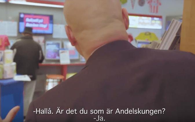 Niklas Holmgren besöker Andelskungen